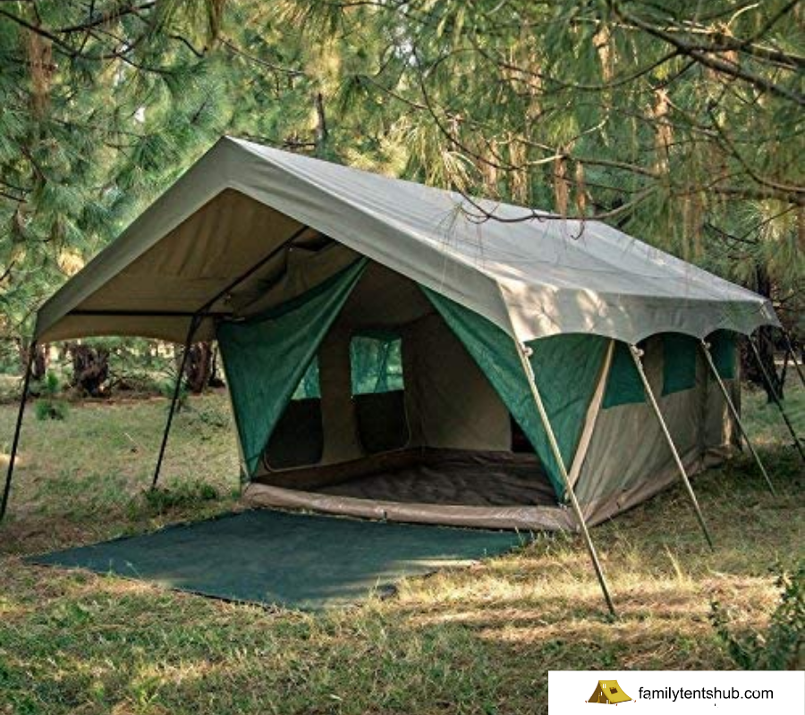 Bushtec Adventure Echo 2200 Luxury Waterproof Ripstop Canvas All-Season 3 Room Glamping Resort Style Tent