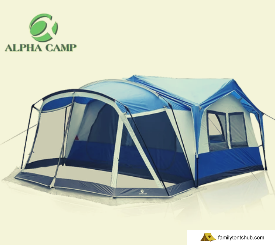 ALPHA CAMP 10-12 Person Tent with Screen Room