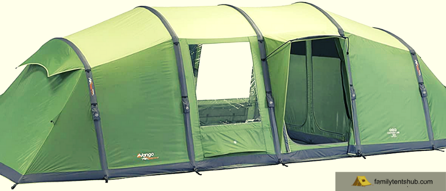 Vango Waterproof Odyssey 800 Outdoor Tunnel Tent available in Green - 8 Persons