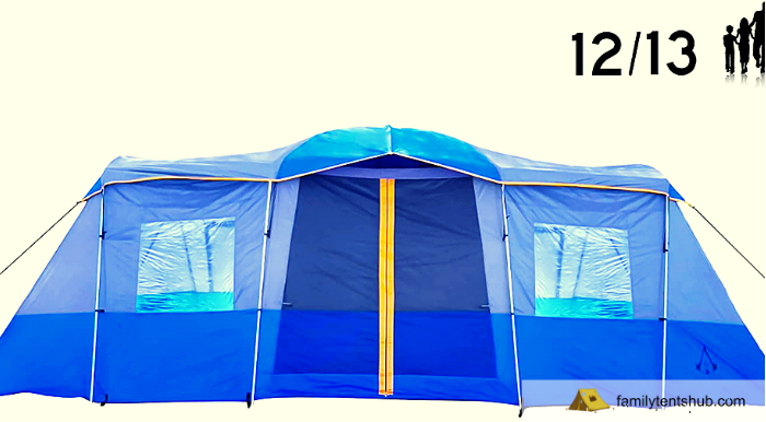 Americ Empire Cabin Instant Tent with 3 Room XL (21ft x 10ft). Huge Family Tents for Camping 12-13-14 Person Waterproof. Large Fits Up to 6 Queen Beds. Easy...