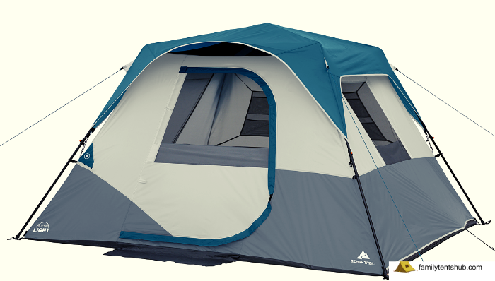 Ozark Trail 6 Person Instant Cabin Tent with Light