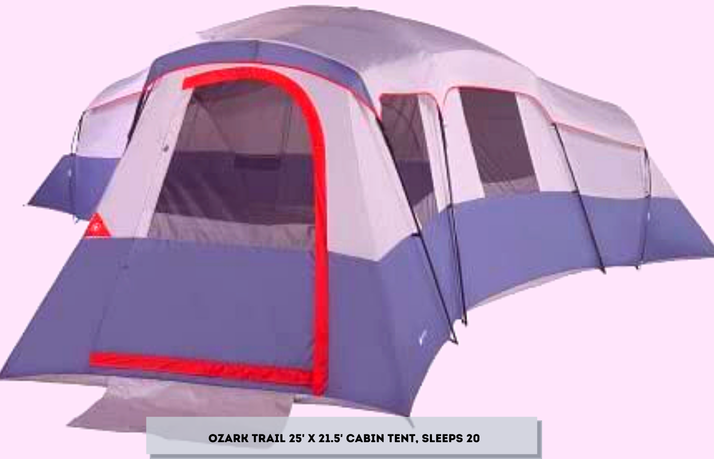 Ozark Trail 25' x 21.5' Cabin Tent, Sleeps 20