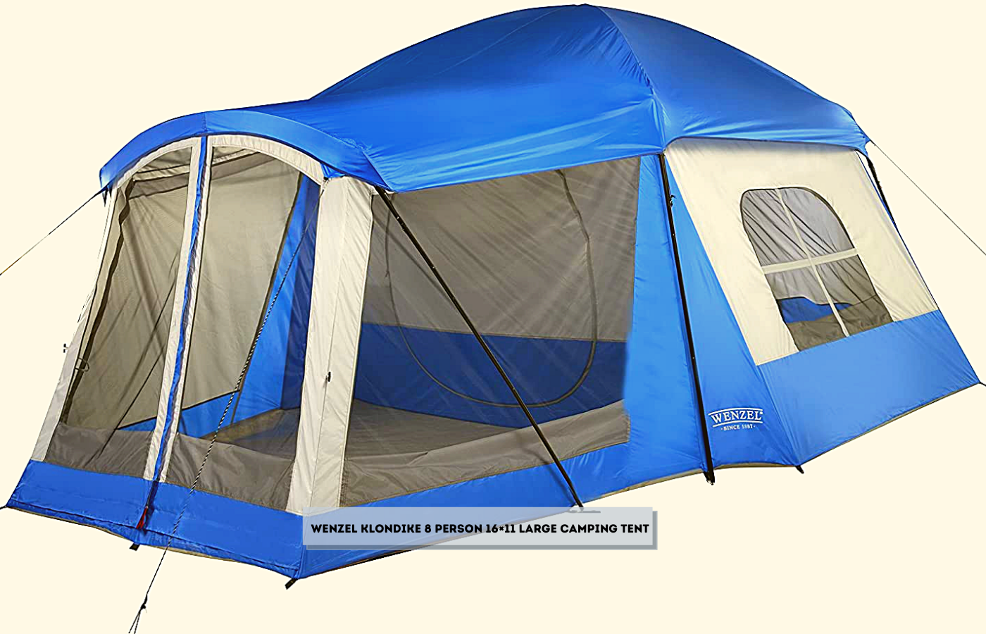 Wenzel Klondike 8 Person 16×11 Large Camping Tent