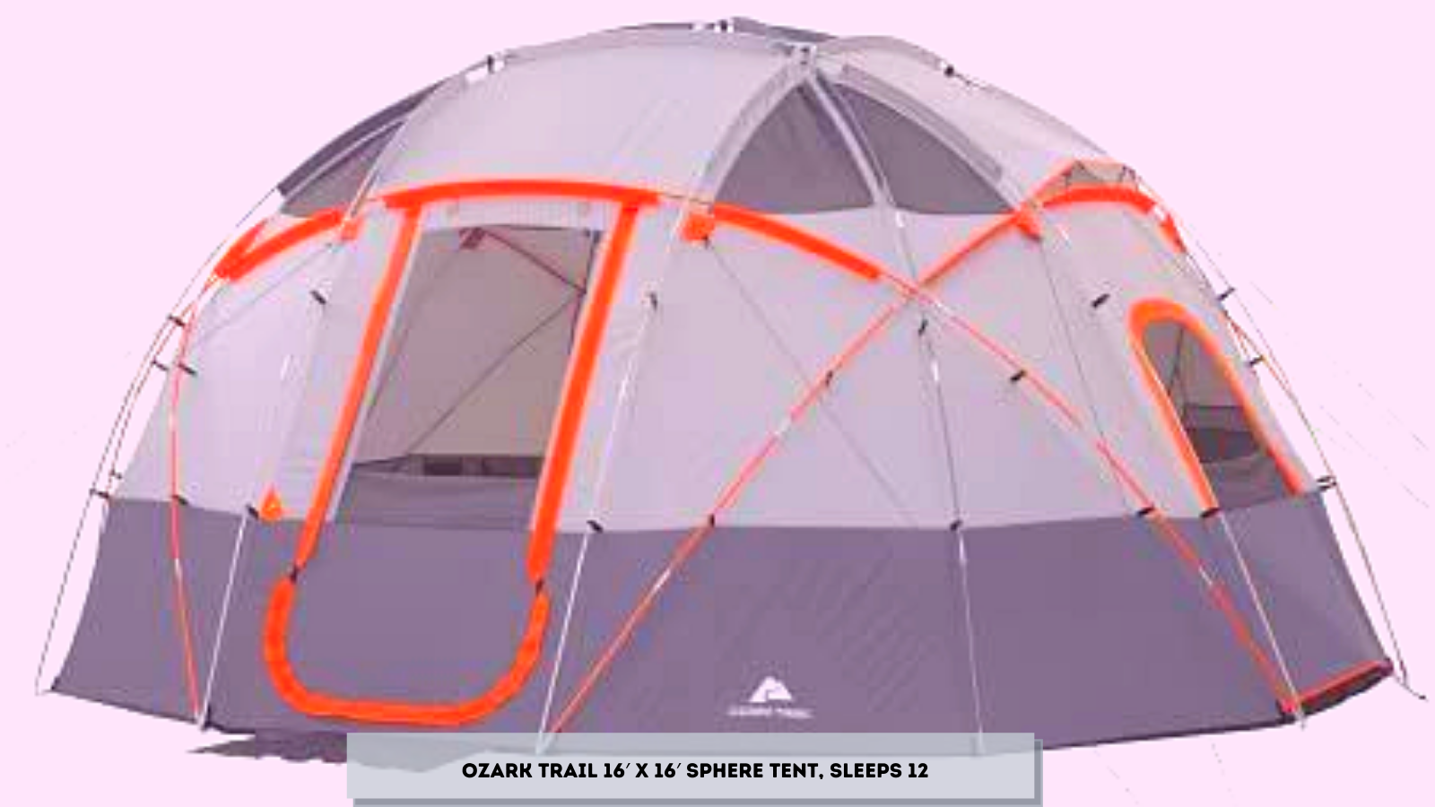 Ozark Trail 16′ x 16′ Sphere Tent, Sleeps 12
