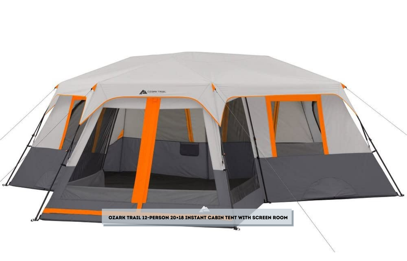 Ozark Trail 12-Person 20×18 Instant Cabin Tent with Screen Room