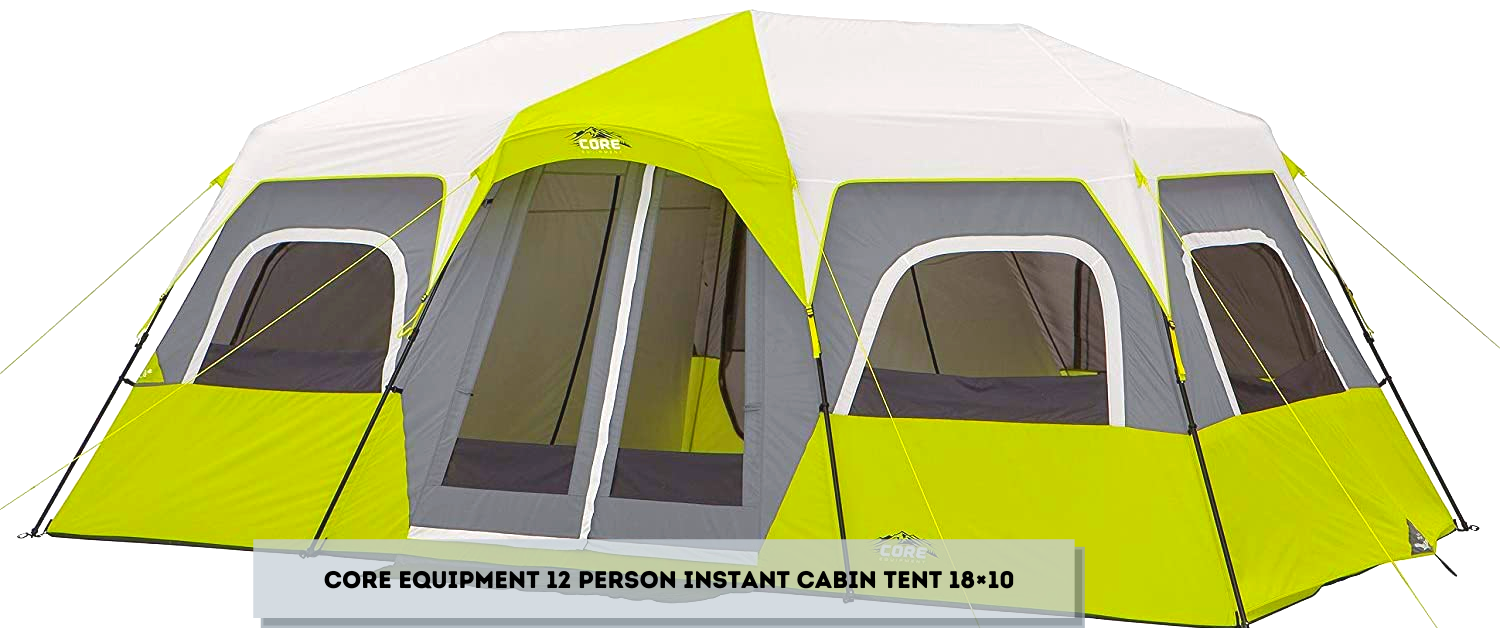 Core Equipment 12 Person Instant Cabin Tent 18×10