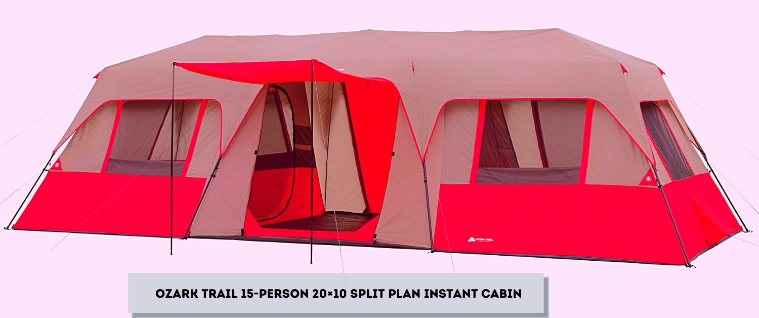 Ozark Trail 15-Person 20×10 Split Plan Instant Cabin