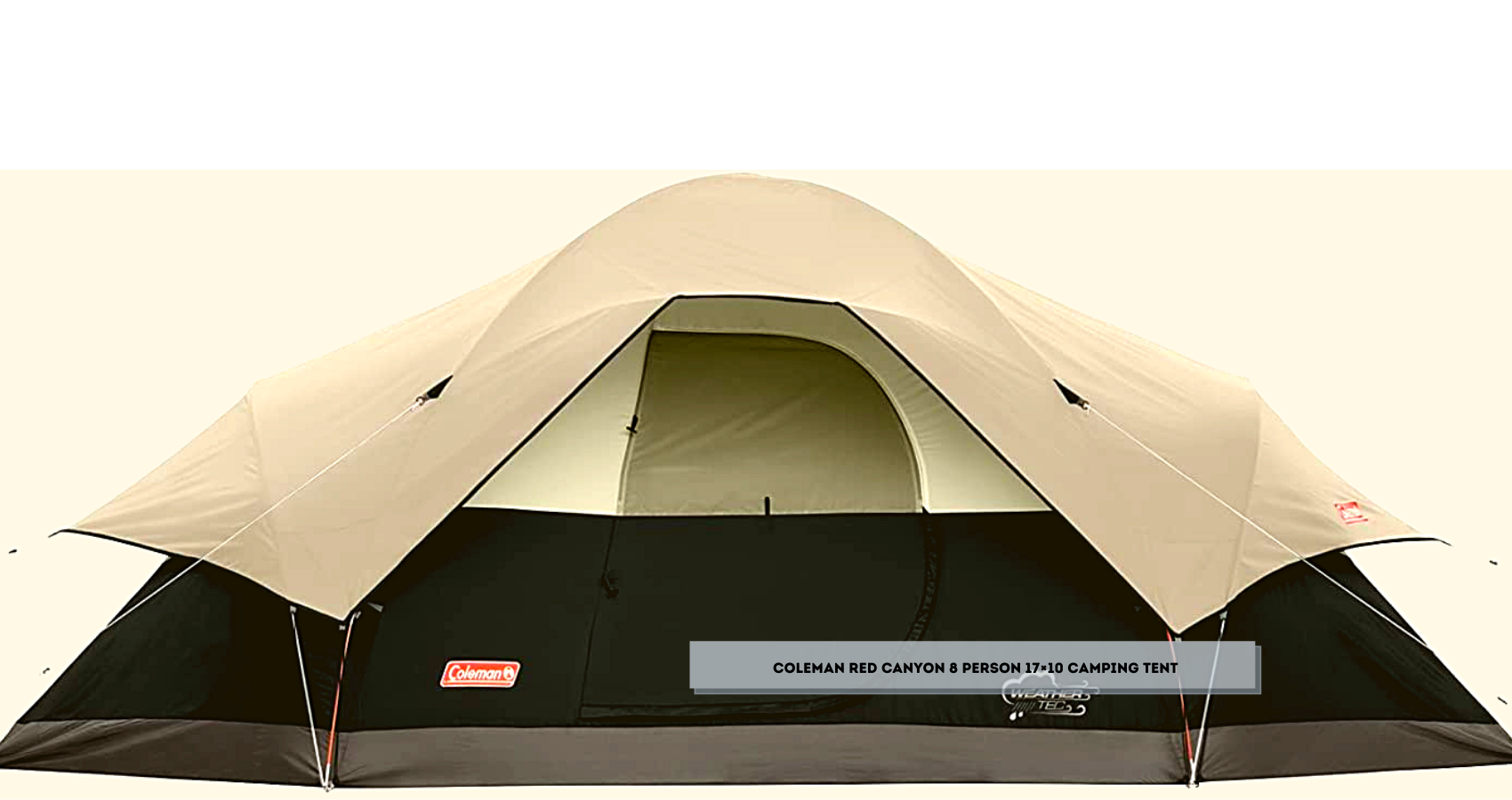 Coleman Red Canyon 8 Person 17×10 Camping Tent