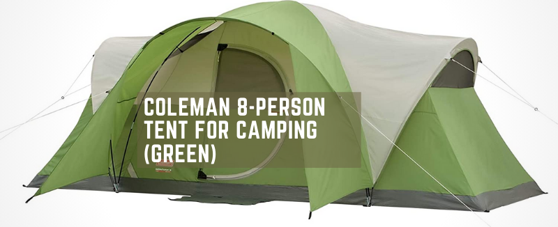 Coleman 8-Person Tent for Camping (Green)