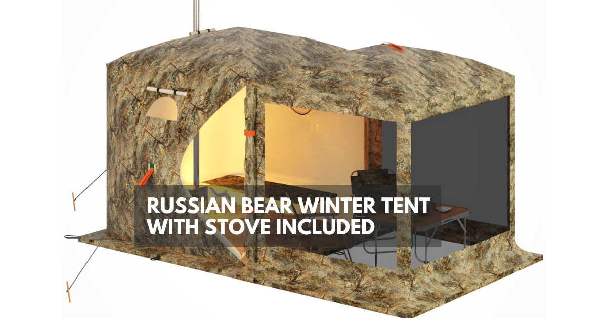 Russian Bear Winter Tent with Stove Included
